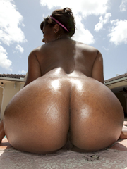 Check out this sexy ebony MILF, Anna Halo fucks and eats cum