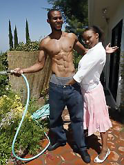 Old black housewife seduced gardener and gets hardcore..