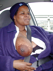 Black fat woman with a magnificent royal breasts