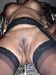 Incredible mature black sluts posing naked, these boobs..