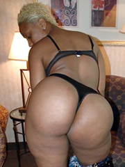 Blonde ebony with huge ass amateur..