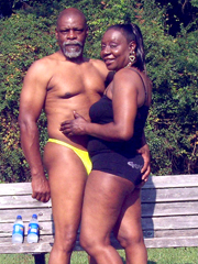 Sexy black elderly couple, they are still sexy