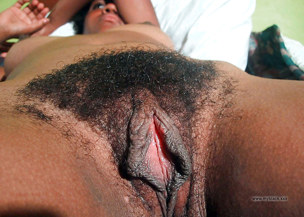 Close hairy black pussy fantasy