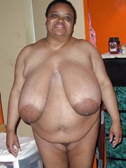 Fat black naked woman