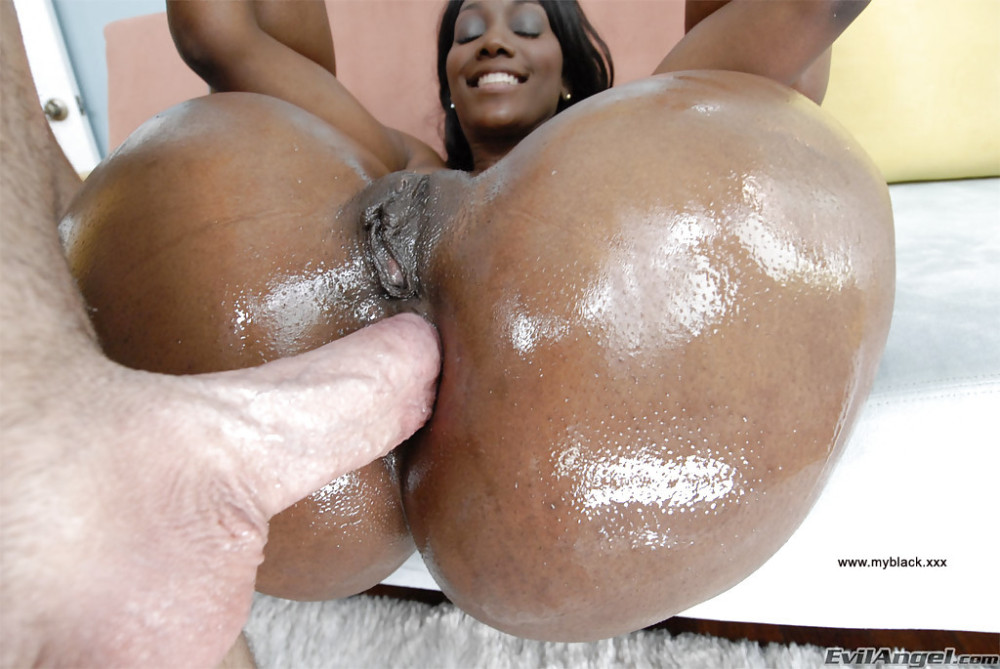 Ass black fucked hole