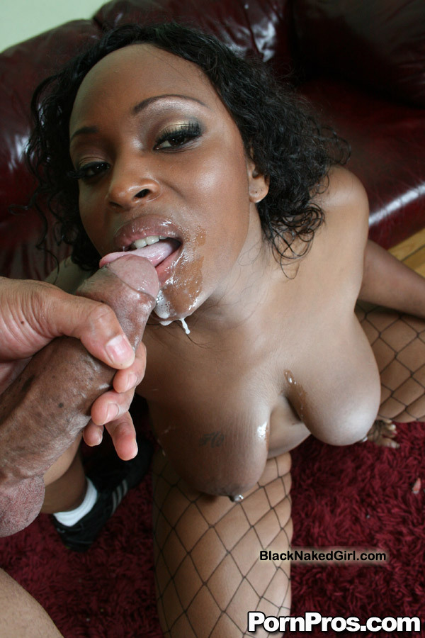 Ebony Teen Giving Sloppy Top